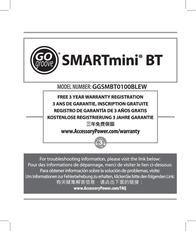 Accessory Power SMARTmini GG-SMARTMINI-BT User Manual