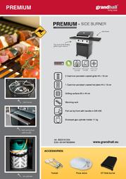 Grandhall Premium GT 3 + Side burner B02316120A Leaflet