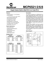 Microchip Technology MCP6S26-I/P Linear IC PDIP-14 MCP6S26-I/P Data Sheet