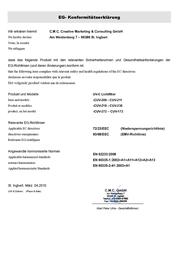 Mauk 713 UVC Purifier 11 W Black 713 Declaration Of Conformity