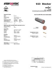 Intercontec BSTA078FR35420235C00 24 / 7 A BSTA078FR35420235C00 Data Sheet