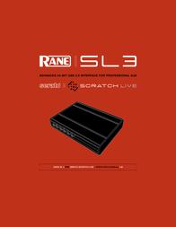 Rane Advanced 24-Bit USB 2.0 Interface for Professional DJs SL3 User Manual