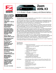 Hayes External ADSL Modem/Router/Gateway 5660-72-00F Leaflet