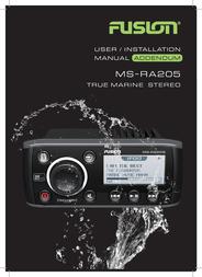 Fusion Electronics Marine Radio MS-RA205 User Manual