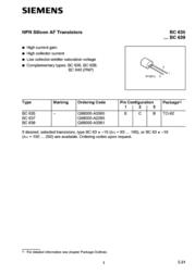 Kerafol N/A BC 636 PNP Case type TO 92 I(C) 1.5 A Emitt BC636 Data Sheet
