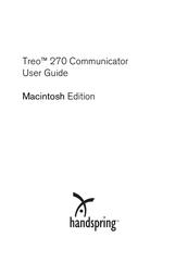Handspring Treo 270 User Manual
