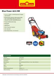 WOLF-Garten BluePower 48 A HW 12AI129J650 Leaflet