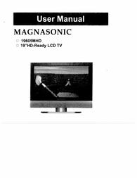 Magnasonic 19605MHD User Manual