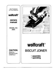 Wolfcraft 2920 用户手册