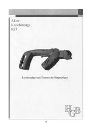 Hgb ELEKTRISCHE ZERLEGEHILFE RS3 31363 Data Sheet