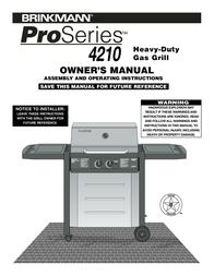 Brinkmann 4210 User Manual