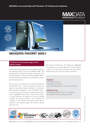 Maxdata Favorit 4000 365212 Leaflet