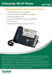 Yealink SIP-T26P 8061108 Leaflet