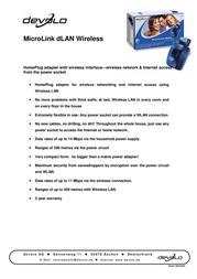 Devolo MicroLink dLAN Wireless 1130 ユーザーズマニュアル