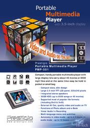 Prestigio Portable Multimedia Player PMP-501 PMPP501030 Leaflet
