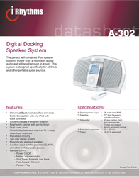 Cyber Acoustics A-302 Data Sheet