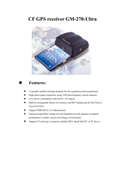 Holux gm-270 ultra cf Specification Guide