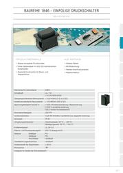 Marquardt Pushbutton series 1841 205.008.011 Push button Black 205.008.011 Data Sheet