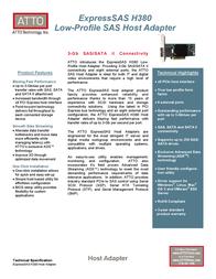 Atto ExpressSAS H380 ESAS-H380-000 Leaflet