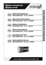 Schabus Gas detector 200892 mains-powered detects Butane, Carbon dioxide, Carbon monoxide, Methane, Propane 200892 Data Sheet