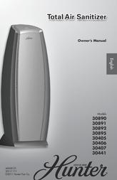 Hunter Total Air Sanitizer 30890 User Manual