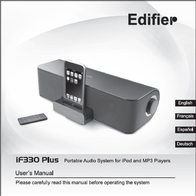 Edifier IF330+ SPK-EF-IF330.W.R2 User Manual