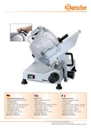 Bartscher 173275-004 User Manual