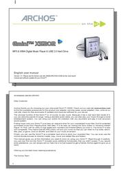 Archos MM ARCHOS MP3 Gmini XS 200 5Gb 500669 User Manual