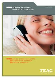 TEAC Stereo Speakers X-2 Black X-2-B User Manual