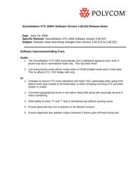 Polycom SoundStation VTX 1000 User Manual