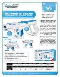 dreamGEAR Rumble Blaster DGWII-1112 Leaflet