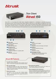 Atrust t50 T50 Leaflet