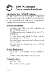 Sigma NN-300012-S6 Serial Adapter NN-300012-S6 User Manual
