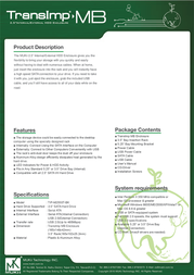 MUKii TIP-M255ST-BK Leaflet