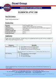 EUROCEL EURO PVC 330 000112366 Leaflet