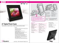 "Aluratek 12"" Digital Photo Frame ADMPF312F Leaflet"