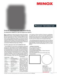 Minox DTC 500 60674 Leaflet