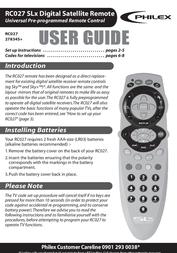 Philex RC027 SLX User Manual