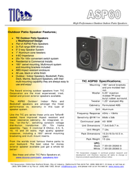TIC Corporation ASP60 ASP60B Leaflet
