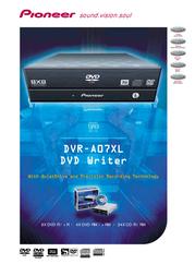 Pioneer DR DUAL 8X4.7GB RET BI DVR-A07XLB User Manual