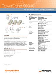 Microsemi PowerDsine 9001G Midspan PD-9001G/AC Leaflet