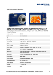 Praktica Luxmedia 12-Z4 256858 Leaflet