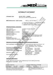 Medikabel 713200438, Control Data Cable, , Black Sheath 713200438 Data Sheet