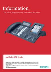 Siemens optiPoint 410 standard L30250-F600-A184 User Manual