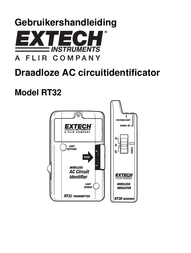 Extech RT32 Cable tester, cable tester RT32-EU User Manual