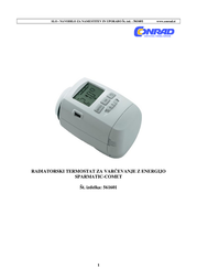 Eurotronic Thermostat head 8 up to 28 °C 700100341 User Manual