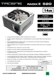 Tacens Radix II 520 1RII520 Leaflet