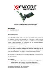ENCORE ENLUSB2-5PCI-BR Leaflet