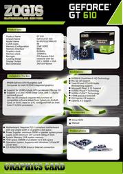 Zogis ZOGT610-2GD3H Leaflet