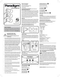 Paradigm Headphones E2i Leaflet